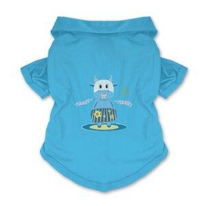 愛吃的小藍牛寵物Polo襯衫