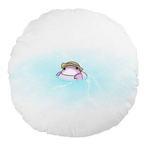 小螃蟹游泳 16 x 16吋細毛絨圓形抱枕