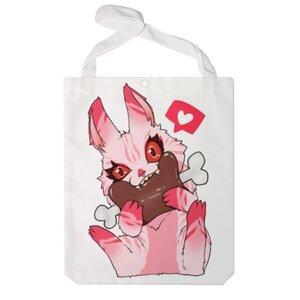 食肉兔 特大帆布單肩袋