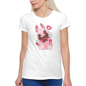 食肉兔女裝棉質圓領T恤
