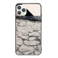 黑灰石材iPhone 11 Pro Max 鏡子鋼化玻璃殼