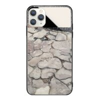 黑灰石材iPhone 11 Pro 鏡子鋼化玻璃殼