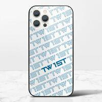 滿版LOGO(藍)-iPhone 12 Pro 鋼化玻璃殼