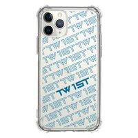 滿版LOGO(藍)-iPhone 11 Pro 透明防撞殼