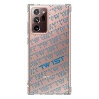 滿版LOGO(藍)-Samsung Galaxy Note 20 Ultra 透明防撞殼(2020 TPU軟款)