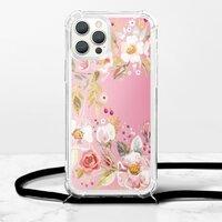 繁花春華iPhone 12 Pro 掛繩透明軟殼
