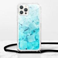 蔚藍冰塊iPhone 12 Pro 掛繩透明軟殼
