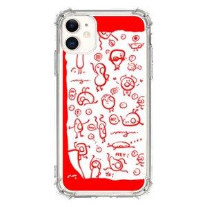 《小可愛》紅色控iPhone 11 透明防撞殼
