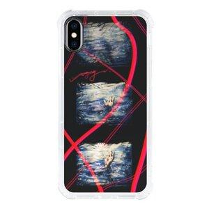 《溺水》iPhone Xs 透明防撞殼(黑邊鏡頭)