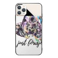 狗iPhone 11 Pro 鏡子鋼化玻璃殼