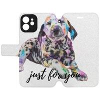 狗iPhone 12 mini 皮紋翻盖殼