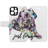 狗iPhone 12 Pro 皮紋翻盖殼