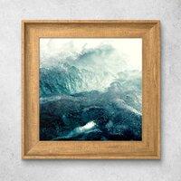 Ocean北歐風格木紋相框掛畫 10'' x 10''