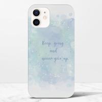 泡泡語錄-藍iPhone 12 mini 光面硬身殼