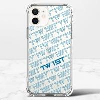 滿版LOGO(白)-iPhone 12 mini 透明防撞殼(TPU軟款)