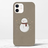 Christmas snowmaniPhone 12 光面硬身殼