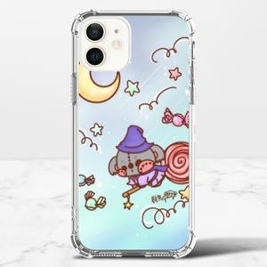 Vipstorey小魔女樹熊 iPhone 12 透明防撞殼(TPU軟款)