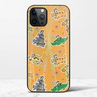 廢物貓貓騎乘系列(黃色)iPhone 12 Pro Max 極光鋼化玻璃殼