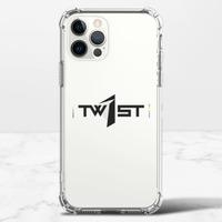 翻轉彩虹(黑)-iPhone 12 Pro Max 透明防撞殼(TPU軟款)