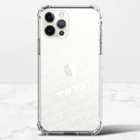 滿版LOGO(白)-iPhone 12 Pro Max 透明防撞殼(TPU軟款)