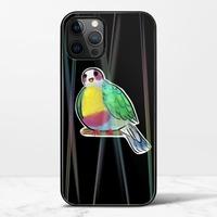 黃胸果鳩iPhone 12 Pro 極光鋼化玻璃殼