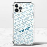 滿版LOGO(藍)-iPhone 12 Pro 透明防撞殼(TPU軟款)