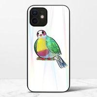 黃胸果鳩iPhone 12 mini 極光鋼化玻璃殼