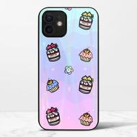 渣男熊甜點iPhone 12 mini 極光鋼化玻璃殼
