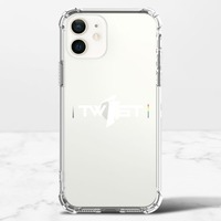 翻轉彩虹(白)-iPhone 12 mini 透明防撞殼(TPU軟款)