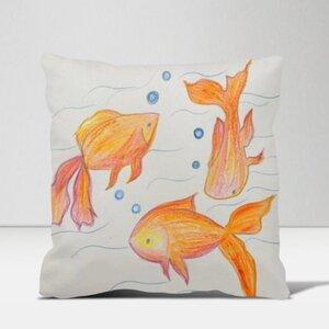 魚兒 16x16吋細毛絨抱枕