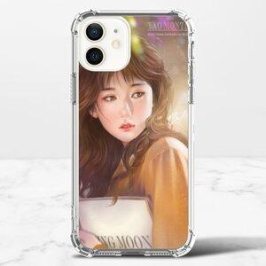 唯美人像畫 iPhone 12 透明防撞殼(TPU軟款)