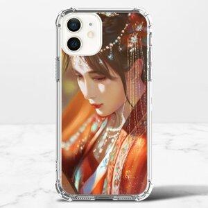 唯美古裝人像畫 iPhone 12 透明防撞殼(TPU軟款)