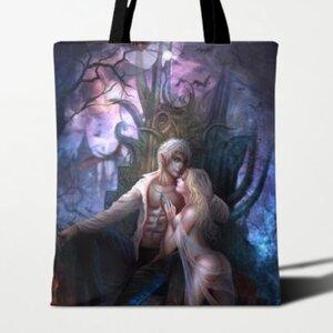 吸血鬼伯爵與他的侍女 特大帆布單肩袋