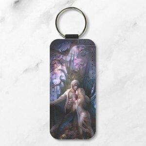 吸血鬼伯爵與他的侍女 長方形皮鑰匙圈