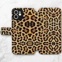 豹紋B –iPhone 12 mini 皮紋翻盖殼