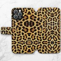 豹紋B –iPhone 12 Pro 皮紋翻盖殼