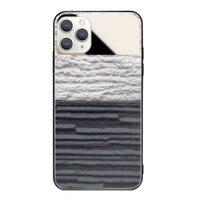 黑與白iPhone 11 Pro Max 鏡子鋼化玻璃殼