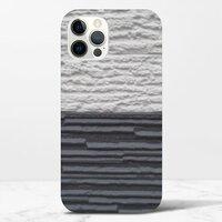黑與白iPhone 12 Pro Max 光面硬身殼