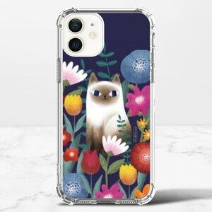 花。喵 iPhone 12 透明防撞殼(TPU軟款)