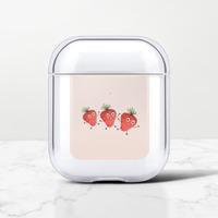 草莓族 AirPods 透明殼