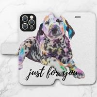 狗iPhone 12 Pro Max 皮紋翻盖殼