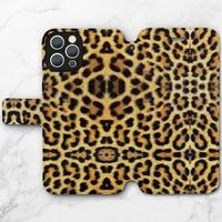 豹紋B –iPhone 12 Pro Max 皮紋翻盖殼