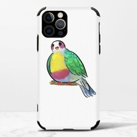 黃胸果鳩iPhone 12 Pro Max 皮紋矽膠殼