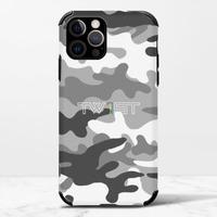 壹定有你(迷彩白) - iPhone 12 Pro Max 皮紋矽膠殼