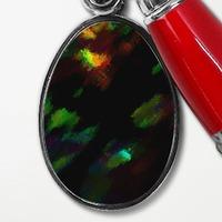 極光色彩-夏日樹蔭光影午後時光原子筆鵝蛋形鑰匙圈
