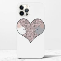 Cat lovers in pinky love heartiPhone 12 Pro Max 光面硬身殼