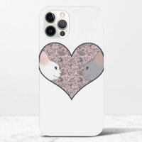 Cat lovers in pinky love heartiPhone 12 Pro 光面硬身殼
