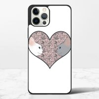 Cat lovers in pinky love heartiPhone 12 Pro Max 保護殼