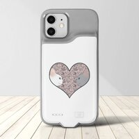 Cat lovers in pinky love heartiPhone 12 / 12 Pro 背夾電池行動電源手機殼