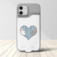 Cat lovers in blue love heartiPhone 12 / 12 Pro 背夾電池行動電源手機殼